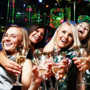 Bachelorette Party Inside Party Bus