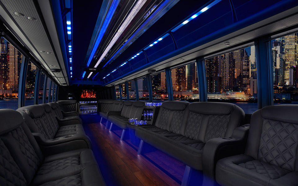 24 Passenger Party Bus Limousine Rental In Boston Ma