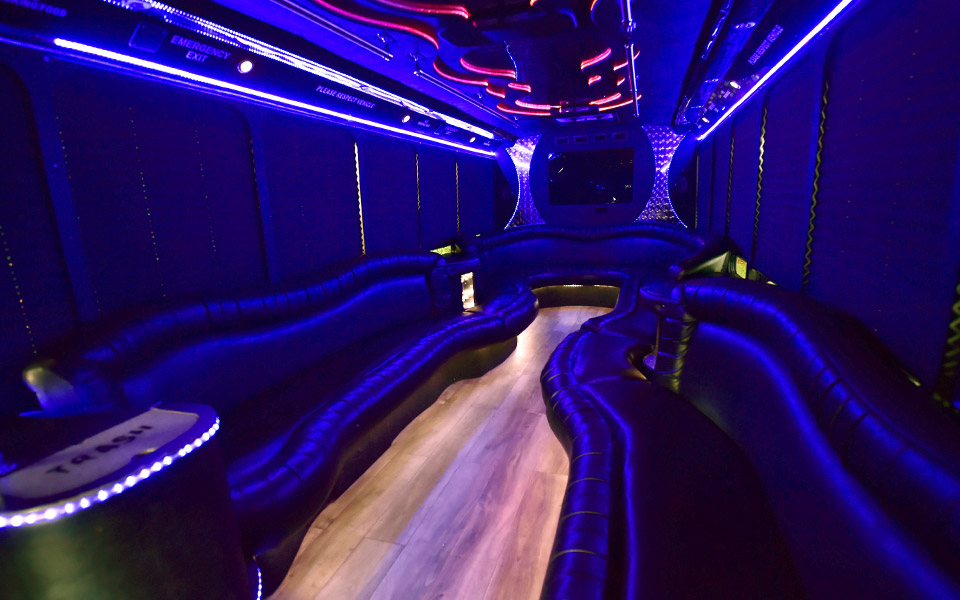 Party Bus Lighting Blue