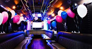Birthday Limousine Rental Boston Interior