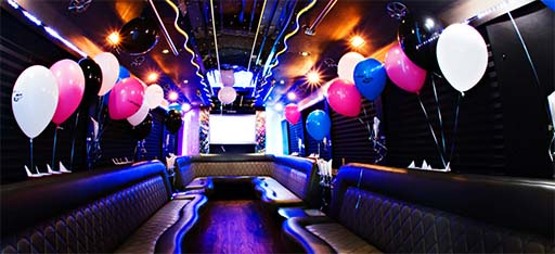Boston Party Bus decorations