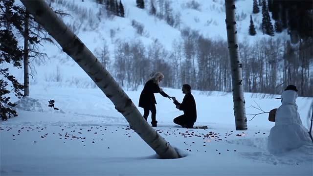 Perfect Winter proposal
