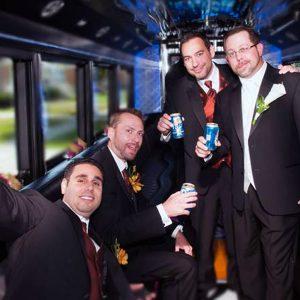 Groomsmen-party-bus-limo