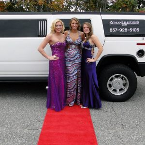 Hummer Limousine Prom Girls