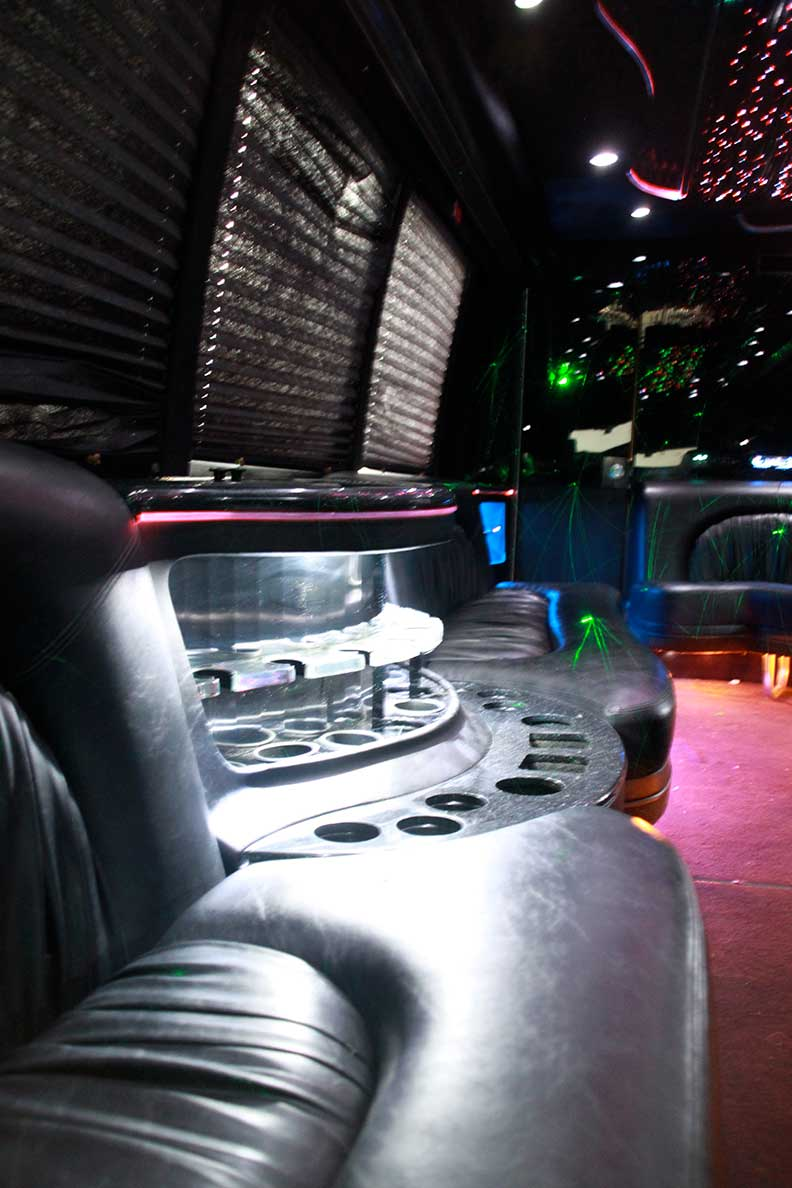 Mega Party Bus interior