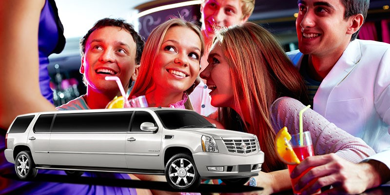 Cadillac Limousine and people