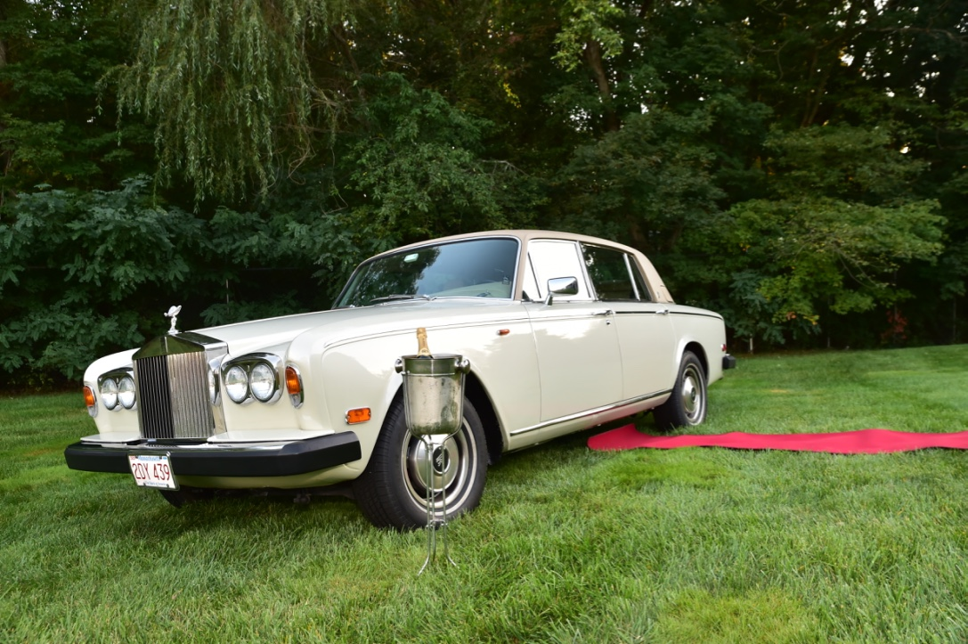 Rolls Royce and red carpet
