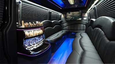 Mercedes Sprinter limo Interior