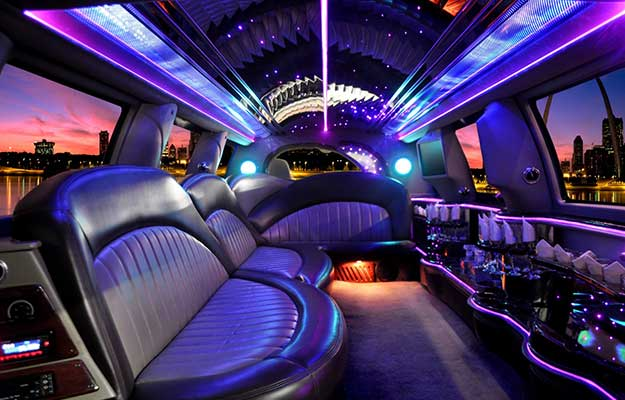 luxurious interior hummer limousine