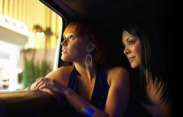 girls in limo night out
