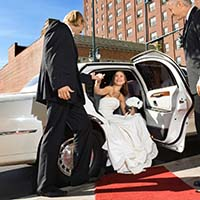 Limousine Rental Bride On Red Carpet