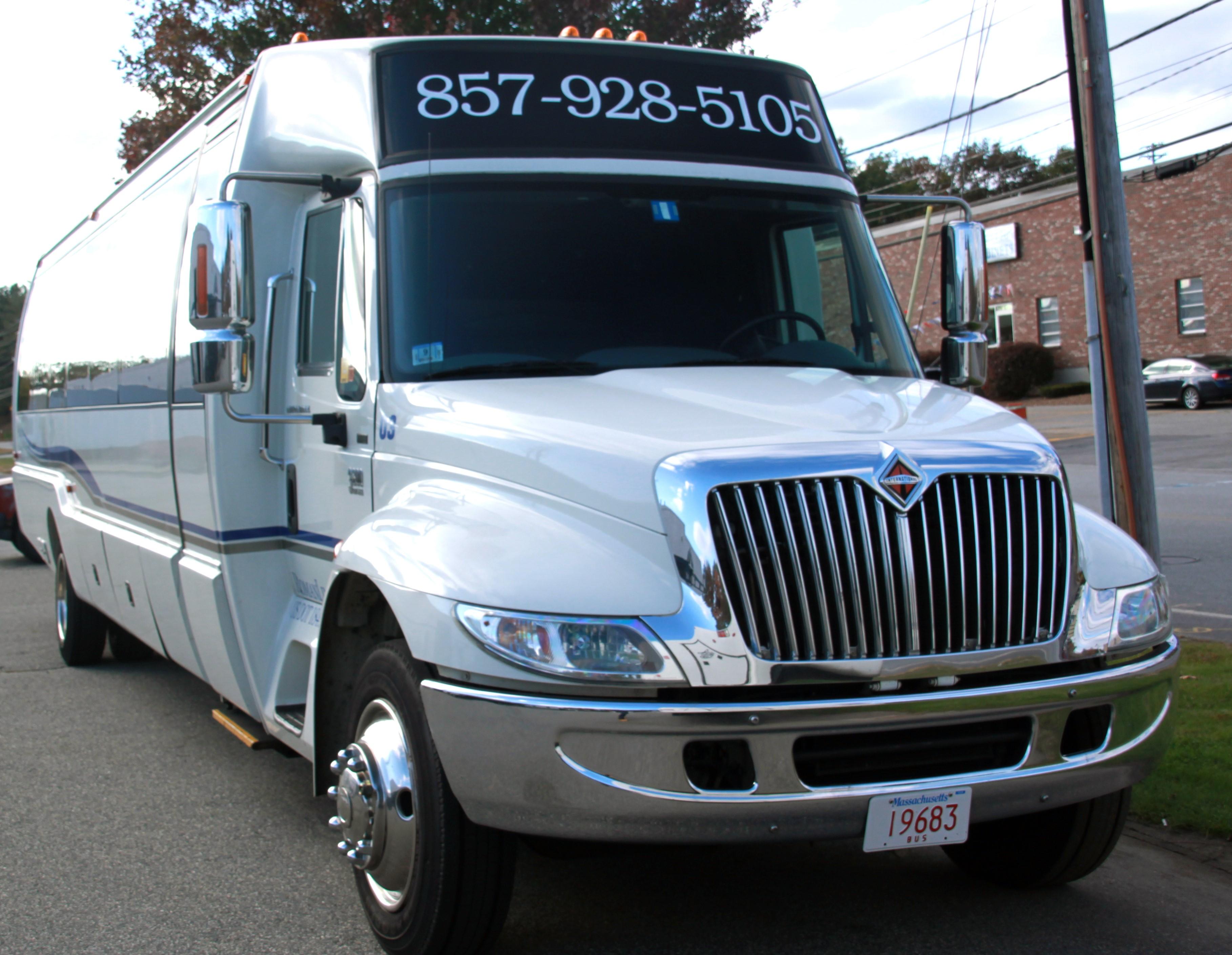 Mega party Bus front