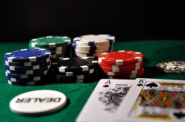 Casino chip stack