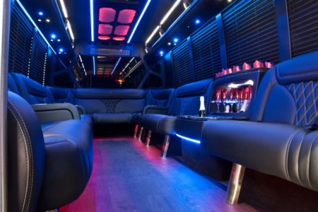 Party Bus 24 Passenger Limo Interior