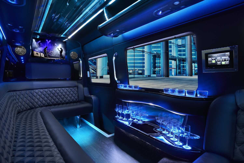 Party Bus Sprinter Limo Interior