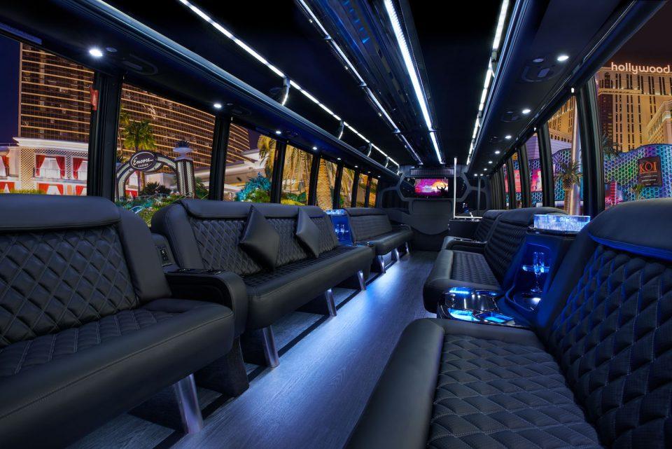 Grech Mega Limo Bus Interior